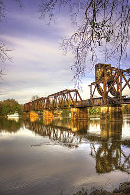 The Coot Augusta Ga 6th Street Trestle Bridge Poster by Reid Callaway