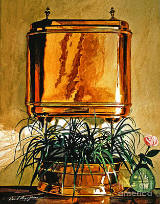 The Copper Lavabo Poster by David Lloyd Glover
