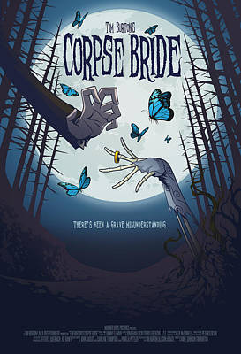 The Corpse Bride Alternative Poster Poster by Christopher Ables