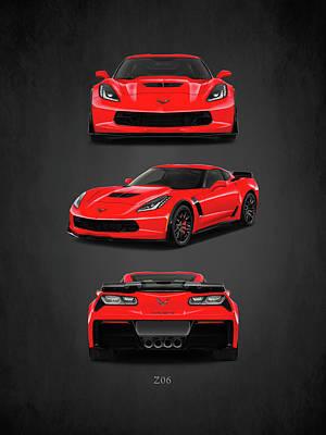 The Corvette Z06 Poster by Mark Rogan