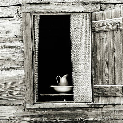 The Cottage Window - Sepia Poster