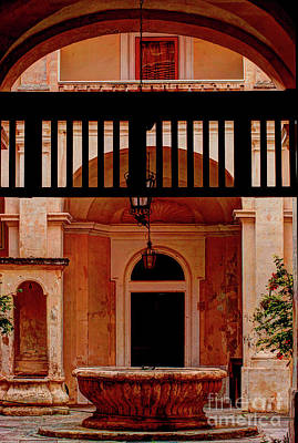 The Court Yard Malta Poster by Tom Prendergast