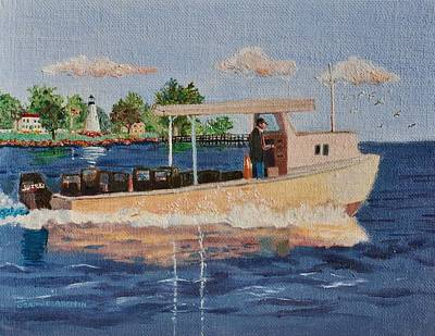 The Crab Fisherman Leaving Havre De Grace Poster by Jeannie Allerton