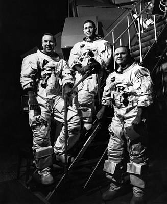 The Crew For The Apollo 8 Spacecraft Poster by Everett