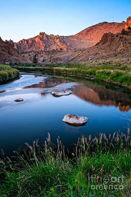 The Crooked River Runs Through Smith Rock State Park  Poster