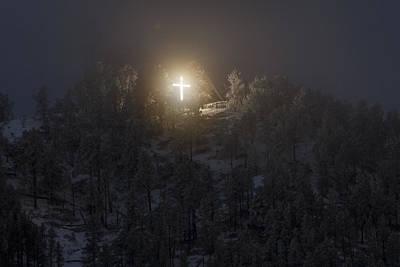 The Cross On Sundance Mountain Poster by David M Porter
