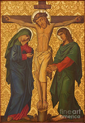 The Crucifixion Painting In Jerusalem Poster by Jozef Sedmak