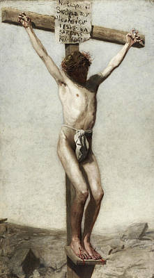The Crucifixion Poster by Thomas Eakins