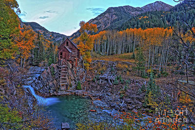 Poster featuring the photograph The Crystal Mill by Scott Mahon