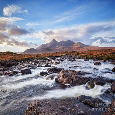 The Cuillins And The River Slgachan Poster