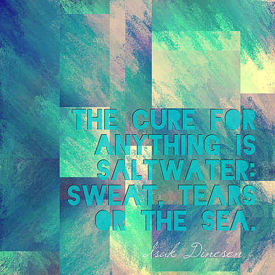 The Cure For Anything Isak Dinesen Poster by Brandi Fitzgerald