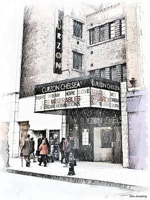 The Curzon Cinema Chelsea London Uk Poster