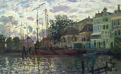 The Dam At Zaandam Poster by Claude Monet