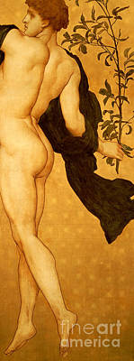 The Dance Of The Cymbalists Poster by Frederic Leighton
