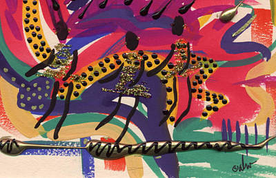 The Dancers Poster by Angela L Walker
