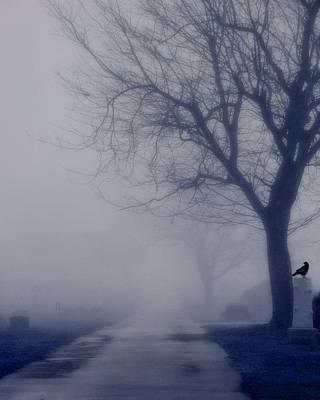 The Dark Foggy Graveyard Road Poster