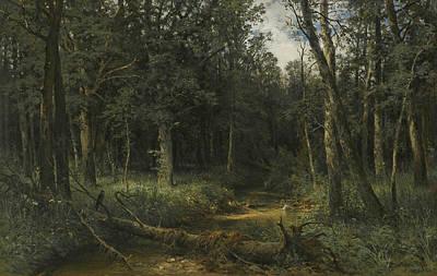 The Dark Wood Poster by Ivan Shishkin