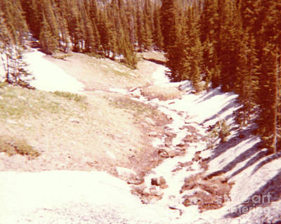 The Day Roaring River Roared At Rocky Mountain National Park With Snow Poster