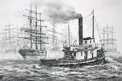 The Days Of Steam And Sail Poster by James Williamson