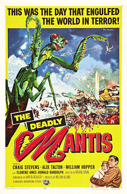 The Deadly Mantis 1957 Poster by Mountain Dreams