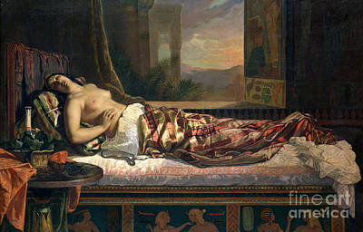The Death Of Cleopatra Poster by German von Bohn