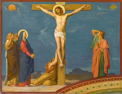 The Death Of Jesus Christ On Calvary Poster by Jean-Hippolyte Flandrin