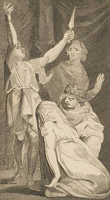 The Death Of Lucretia, From Allen's New And Impartial Roman History Poster