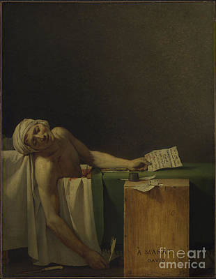 The Death Of Marat Poster by MotionAge Designs