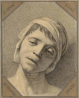 The Death Of Marat Poster by Louis David