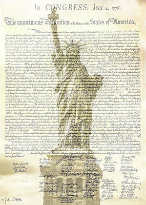 The Declaration Of Independence #3 Poster by Julian Starks