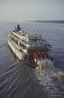 The Delta Queen, A Steamboat, Makes Poster by Ira Block