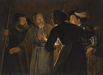 The Denial Of Saint Peter Poster by Follower of Gerard Seghers