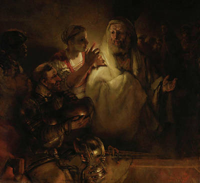 The Denial Of St Peter Poster by Rembrandt