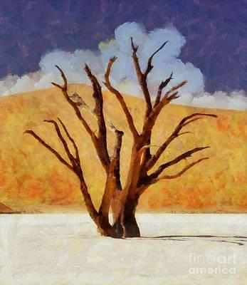 The Desert Tree By Sarah Kirk Poster by Sarah Kirk