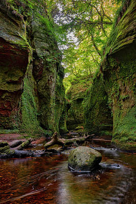 The Devil Pulpit At Finnich Glen Poster by Jeremy Lavender Photography