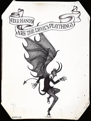 The Devil's Playthings Poster by Little Bunny Sunshine