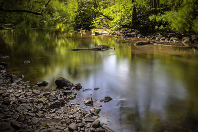 Poster featuring the photograph The Devon River by Jeremy Lavender Photography