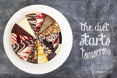 The Diet Starts Tomorrow Poster by Edward Fielding