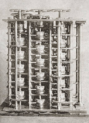 The Difference Engine Of The Babbage Poster