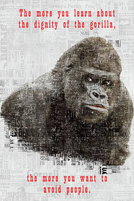 The Dignity Of A Gorilla Poster