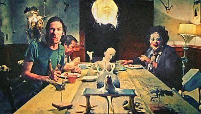 The Dinner Scene - Texas Chainsaw Poster by Taylan Apukovska
