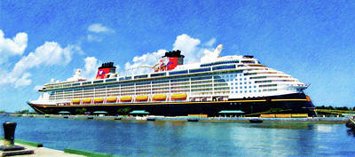 Poster featuring the painting The Disney Dream In Nassau by Sandy MacGowan