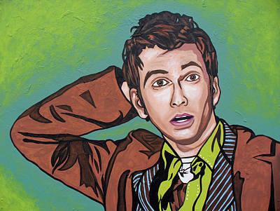 The Doctor David Poster by Sarah Crumpler