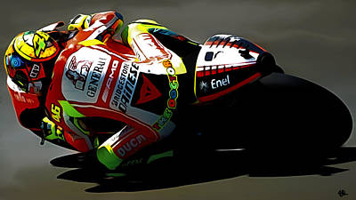 The Doctor Valentino Rossi Poster by Brian Reaves