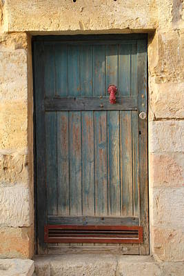 Poster featuring the photograph The Door And The Hand by Yoel Koskas