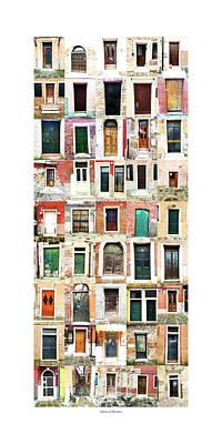 The Doors Of Murano Italy Poster