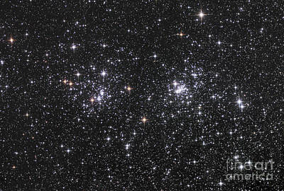 The Double Cluster, Ngc 884 And Ngc 869 Poster by Robert Gendler