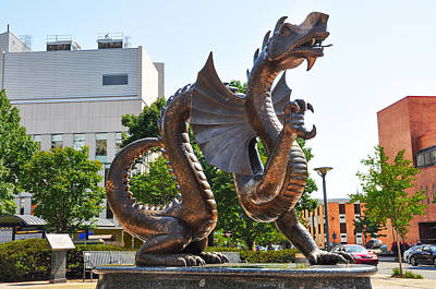 The Dragon - Drexel University Poster by Bill Cannon