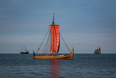 The Draken Viking Ship Poster by Dale Kincaid