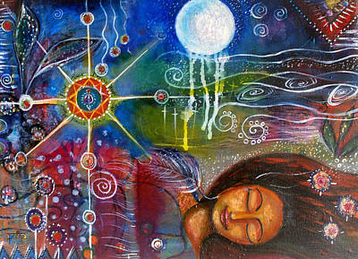 Poster featuring the painting The Dreamer by Prerna Poojara